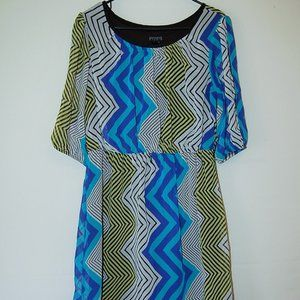 En Focus Studio Multicolor Chevron Dress